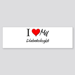 I Heart My Diabetologist Bumper Sticker